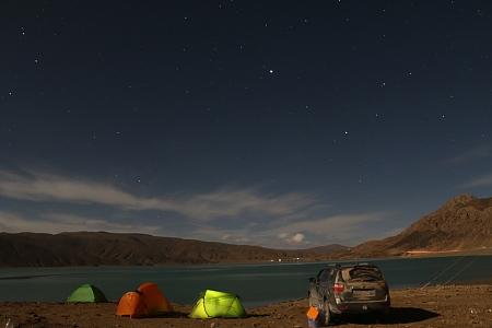 藏区骑行60日~第40天「离别G318,夜宿湖边,帐篷星空,和篝火」Riding in the Tibetan area for 60 days~Thirty-ninth days