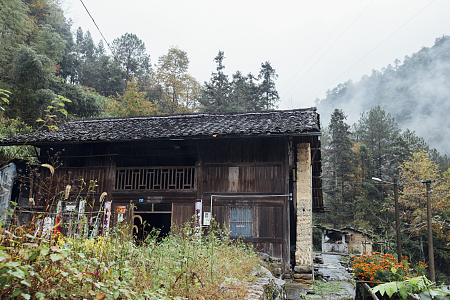 秋雨里的小山村 Small mountain village in autumn rain