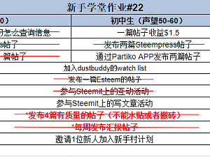 【新手学堂作业#22】11.12-11.18作业周报@liubao