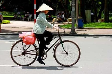 看大妈骑自行车随感